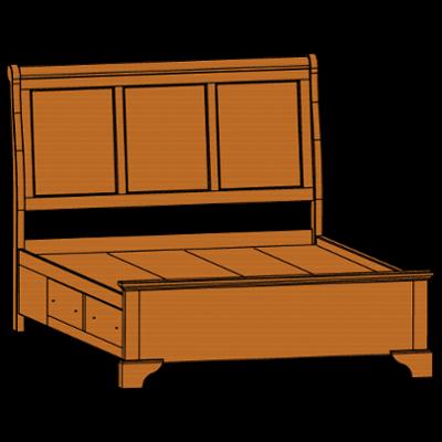 80051sd-chalet-queen-side-rail-drw-unit