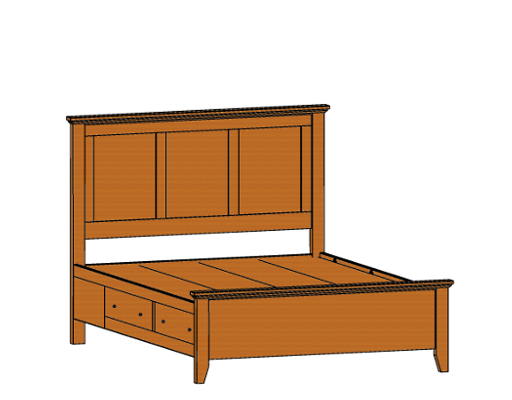 bed-with-side-rail-drws